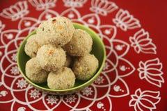 Rava Ladoo sweets Royalty Free Stock Photo