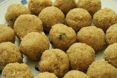 Rava or semolina laddu. A South Asian sweet Stock Photography