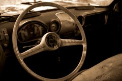 The ravages of time. Look in an old car stock images