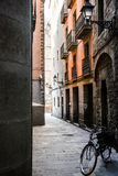 Raval. Bicycle in Raval district. Barcelona royalty free stock image