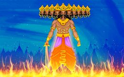 Ravan Dahan for Dusshera celebration Royalty Free Stock Photography