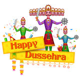 Ravan Dahan for Happy Dusshera celebration Stock Image