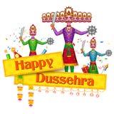 Ravan Dahan per la celebrazione felice di Dusshera illustrazione vettoriale
