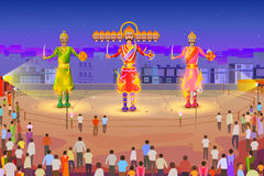 Ravana burning in Dussehra Stock Image