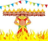 Ravana Dahan stock illustratie