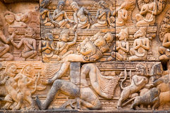 Ravana the Demon sculpture, Angkor Royalty Free Stock Photography