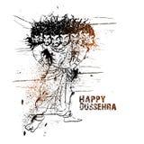 Ravana fâché pour la célébration heureuse de Dussehra Image libre de droits