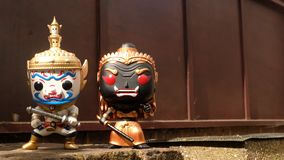 Ravana and giantess Stand prominent. Suitable for making background images royalty free stock photo