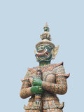 Ravana. Is a green body giant who has ten front faces to check Stock Image