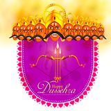 Ravana in Happy Dussehra festival of India Stock Photo