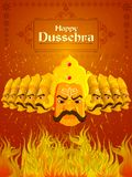 Ravana in Happy Dussehra festival of India Royalty Free Stock Photos