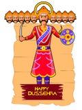 Ravana in Happy Dussehra festival of India Royalty Free Stock Photo