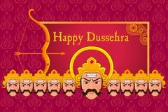 Ravana in Happy Dussehra Royalty Free Stock Photography