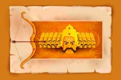 Ravana in Happy Dussehra Royalty Free Stock Photos