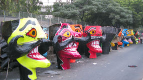 Ravana head effigies Stock Images