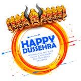 Ravana met tien hoofden voor Dussehra stock illustratie