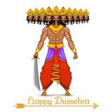 Ravana met tien hoofden voor Dussehra royalty-vrije illustratie
