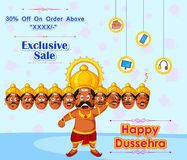 Ravana offering Happy Dussehra Sale Stock Photos