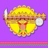 Ravana with ten head for Dussehra Royalty Free Stock Image