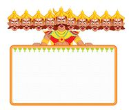 Ravana with ten head for Dussehra Stock Photo