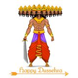 Ravana with ten heads for Dussehra royalty free illustration