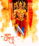 Ravana with ten heads for Dussehra Stock Photography