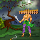Ravana with ten heads for Dussehra Royalty Free Stock Photo