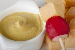 Ravanello e formaggio Fotografie Stock Libere da Diritti