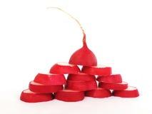 Ravanello rosso, ravanello del giardino Fotografie Stock Libere da Diritti