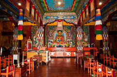 Ravangla Monastery interiors Royalty Free Stock Photography