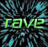 Rave - collage di tipografia Immagini Stock