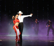 Rave cowboy-The cha cha-the Austria's world Dance Stock Photos