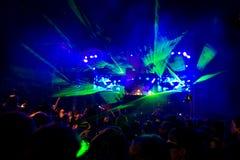 rave koncert Obrazy Stock