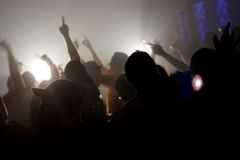 Rave Party. Club scene of people dancing in ecstasy