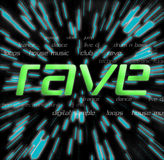 Rave -Typography Collage Stock Images