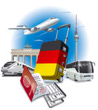 Ravel to germany Royalty Free Stock Photography