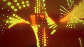 Ravelings //1080p che muove Dots Video Background Loop illustrazione di stock