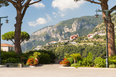 Ravello on the Amalfi Coast. High above Amalfi is the very pretty village of Ravello Royalty Free Stock Image