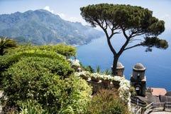 Ravello - Amalfi Coast. Landscape of the Amalfi Coast view from Ravello royalty free stock photography