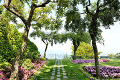 Ravello, Amalfi Kust, Italië - Belvedere de tuinen van Di Piemonte van Principessa Royalty-vrije Stock Afbeelding