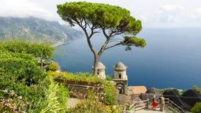 Ravello auf Amalfi-Küste, Italien Stockfotografie