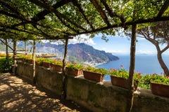 Ravello auf Amalfi-Küste in Kampanien in Italien Stockbild