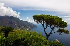 Ravello auf Amalfi-Küste in Kampanien in Italien Lizenzfreies Stockfoto