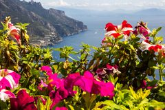 Ravello auf Amalfi-Küste in Kampanien in Italien Lizenzfreies Stockbild