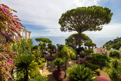 Ravello auf Amalfi-Küste in Kampanien in Italien Lizenzfreie Stockfotografie