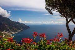 Ravello auf Amalfi-Küste in Kampanien in Italien Stockfotografie