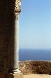 Ravello column. Corinthian column on Villa Cimbrone terrace in Ravello, Italy Royalty Free Stock Photo
