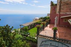 Ravello en la costa de Amalfi imagenes de archivo