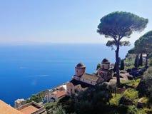Ravello, Itali? Villa Rufolo stock afbeelding