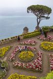 Villa Rufolo gardens, Ravello Italy. stock photo